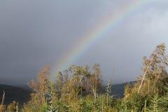 Tęcza nad średniogórzami Szkocja Zdjęcia Royalty Free