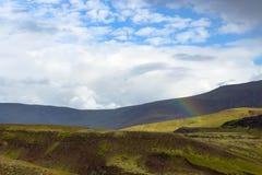 tęcza nad Hveragerdi Gorącej wiosny Rzecznym śladem Zdjęcie Stock