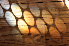 Tęcza okręgi w drewnianej podłoga Fotografia Stock