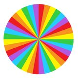 Tęcza okręgu round ślimakowaty tło Flaga LGBT społeczność ja ilustracji