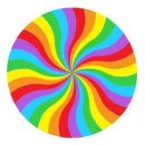 Tęcza okręgu round ślimakowaty tło Flaga LGBT społeczność ja royalty ilustracja