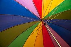 tęcza parasolkę Zdjęcia Royalty Free