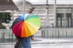 tęcza parasolkę Zdjęcie Royalty Free