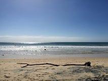 Tęcza plażowy widok fotografia royalty free