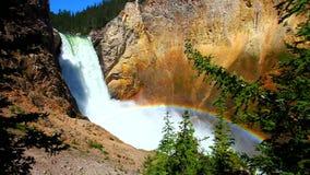 Tęcza przy Niskimi spadkami Yellowstone zbiory