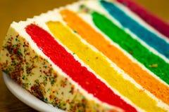 Tęcza tort zdjęcie royalty free