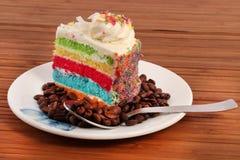 Tęcza torta plasterek obraz royalty free