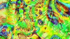 Tęcza zespoły szkło plamiący Kalejdoskop kolory Neonowa łuna ilustracji