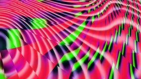 Tęcza zespoły szkło plamiący Kalejdoskop kolory Neonowa łuna royalty ilustracja