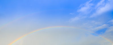 Tęcze nad chmurą Obraz Stock