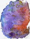 Tęczy akwareli piękne jaskrawe błękitne purpurowe plamy, abstrakcjonistyczny obrazek, błękitnego bez menchii obrazka delikatny li ilustracja wektor
