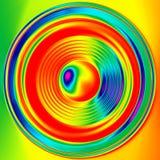 Tęczy barwiony głośnikowy zakończenie Zdjęcia Stock