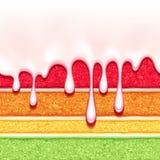 Tęczy gąbki torta tło kolorowa bezszwowa tekstura Fotografia Royalty Free