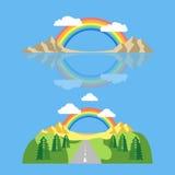 Tęczy ikony mieszkanie LGBT pojęcia wizerunek Fotografia Stock