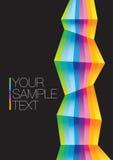 Tęczy kolorowy tła układ Obrazy Stock
