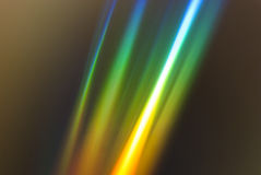 Tęczy lekka refrakcja na cd Fotografia Stock