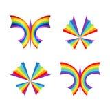 Tęczy motyla pojęcia Obraz Stock