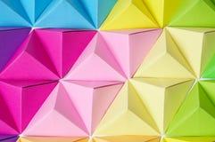 Tęczy origami tło Zdjęcia Royalty Free