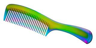 Tęczy przejrzysty hairbrush Obraz Stock