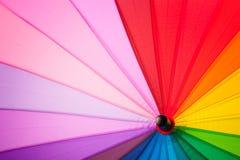 Tęczy stubarwny tło parasol Obrazy Stock
