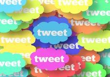 Tęczy Tweet chmury ilustracja wektor