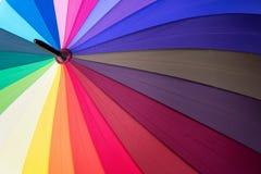 Tęczy widma stubarwny tło parasol Obrazy Stock