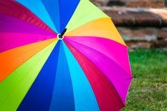 Tęczy widma stubarwny tło parasol Fotografia Stock