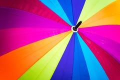 Tęczy widma stubarwny tło parasol Zdjęcie Royalty Free