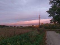 Tęsk chmura nad wsią Obraz Stock