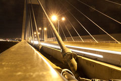 Tęsk most w chi minh mieście przy nocą Ho Motocykl wycieczka Fotografia Stock