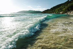 Tęsk plaża Fotografia Royalty Free