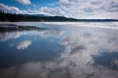 Tęsk plaża Zdjęcia Stock