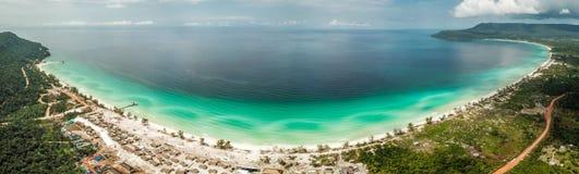 Tęsk plaża na Koh Rong, Kambodża zdjęcie royalty free