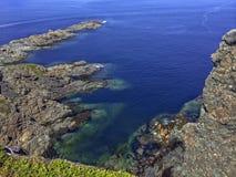 Tęsk punkt, Twillingate wyspa, wodołaz zdjęcia stock