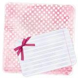 tła łęku nutowy papier różowy Fotografia Royalty Free