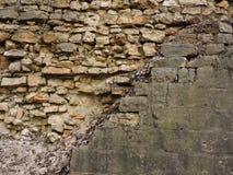 Tła ściana z cegieł stara tekstura Rocznik Obraz Royalty Free