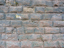 Tła ściana z cegieł stara tekstura Rocznik obraz stock