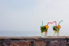 tła ścinku koktajlu odosobniony mojito ścieżki biel Fotografia Stock