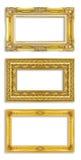 tła ścinku ramy złoto wliczając odosobnionego ścieżki biel Obraz Stock