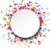 tła świętowania confetti radosna tapeta Zdjęcia Stock