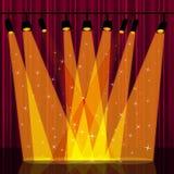 Tła światło reflektorów Wskazuje sceny tło I światła Zdjęcia Royalty Free