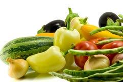 tła świeżego warzywa biel obrazy stock