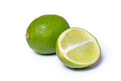 tła świeżej owoc soczystego wapna tropikalny biel Fotografia Stock