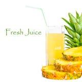 tła świeży soku ananas pokrajać Zdjęcie Stock
