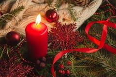 tła świeczki bożych narodzeń dekoraci prezenta złoty xmas Zdjęcia Royalty Free