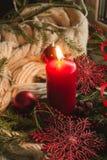 tła świeczki bożych narodzeń dekoraci prezenta złoty xmas Obrazy Stock