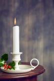 tła świeczki bożych narodzeń dekoraci prezenta złoty xmas Zdjęcia Stock