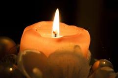 tła świeczki bożych narodzeń dekoraci prezenta złoty xmas Zdjęcie Stock