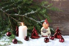 tła świeczki bożych narodzeń dekoraci prezenta złoty xmas fotografia stock