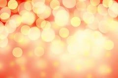 tła żarówek bożych narodzeń światła wizerunku światła Złoty Wakacyjny Abstrakcjonistyczny Defocused b Fotografia Royalty Free